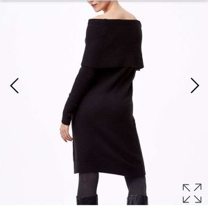 Loft off shoulder sweater dress